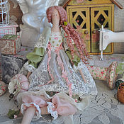 """Куклы и игрушки ручной работы. Ярмарка Мастеров - ручная работа Кукла в стиле Тильда """"Весенная мелодия"""". Handmade."""