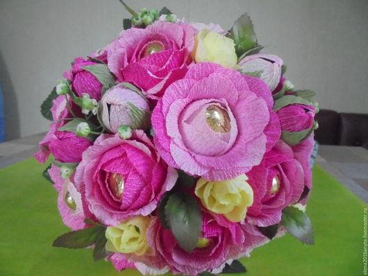Букеты ручной работы. Ярмарка Мастеров - ручная работа. Купить букет из роз. Handmade. Розовый, конфеты, сладкий подарок