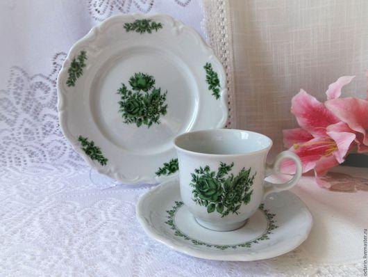 """Сервизы, чайные пары ручной работы. Ярмарка Мастеров - ручная работа. Купить Чайное трио,""""Winterling Roeslau"""", Германия. Handmade."""