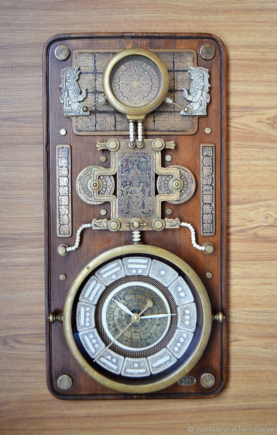 Wall clock picture. ' Mysteries of the Mayan civilization', Watch, Serpukhov,  Фото №1