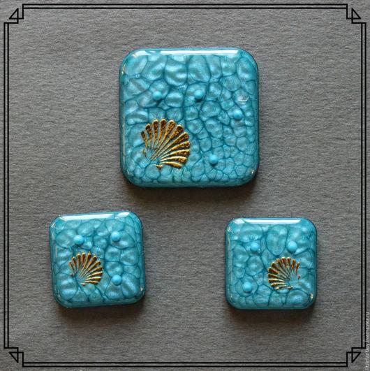 Для украшений ручной работы. Ярмарка Мастеров - ручная работа. Купить Лот 1  Комплект кабошонов ручной работы. Handmade.