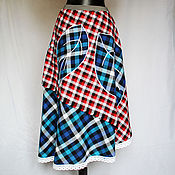"""Одежда ручной работы. Ярмарка Мастеров - ручная работа Юбка """"ТриЛистик""""  100% лён. Handmade."""