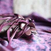 Сумки и аксессуары ручной работы. Ярмарка Мастеров - ручная работа Клатч  кожаный  ( серый ) -   Хоровод  цветов. Handmade.