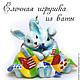 елочные игрушки, елочная игрушка, ватная елочная игрушка, зайцы, кролики, фигурка из ваты, ватная игрушка, новый год, корпоративные подарки.фигурка кролик.