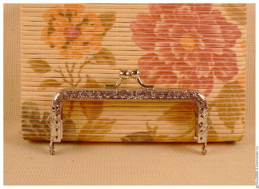 Другие виды рукоделия ручной работы. Ярмарка Мастеров - ручная работа. Купить Фермуар 10,5 см., прямоугольный, серебряный.. Handmade.