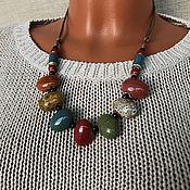Украшения handmade. Livemaster - original item Necklace: bright Decoration on the neck, necklace of ceramic beads. Handmade.
