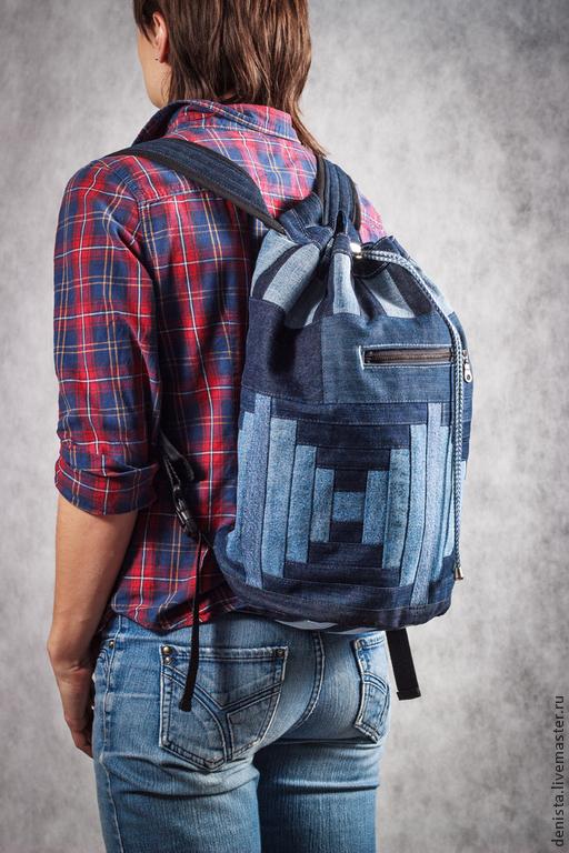 """Рюкзаки ручной работы. Ярмарка Мастеров - ручная работа. Купить Рюкзак джинсовый """"infinity"""". Handmade. Рюкзак, рюкзак школьный, хлопок"""