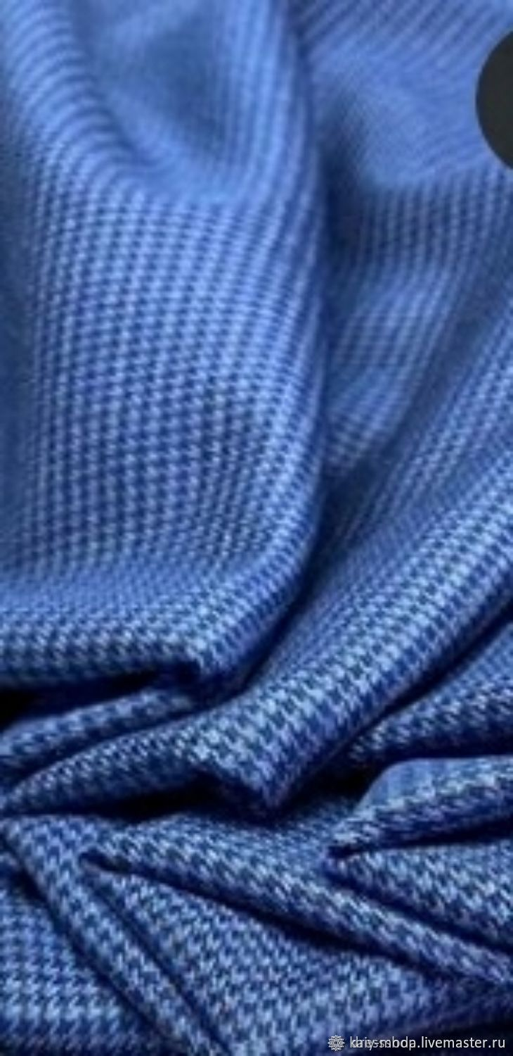 Costume fabric-small crow's foot - blue, Fabric, Moscow,  Фото №1