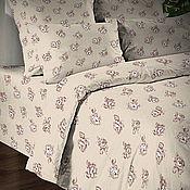 Для дома и интерьера ручной работы. Ярмарка Мастеров - ручная работа Льняной постельный  комплект- чайные розы. Handmade.