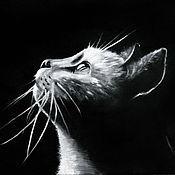 Картины и панно ручной работы. Ярмарка Мастеров - ручная работа В ночной тиши... (30 х 40 см). Handmade.