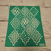Материалы для творчества handmade. Livemaster - original item Stencil adhesive reusable 6860. Handmade.