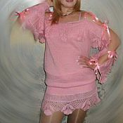 Одежда ручной работы. Ярмарка Мастеров - ручная работа ажурное праздничное платье на заказ. Handmade.