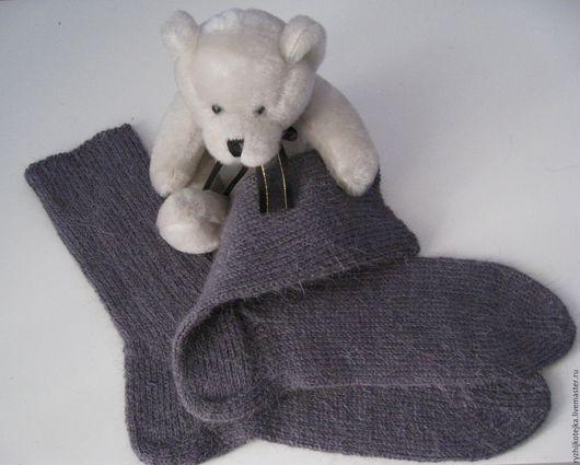 Носочки `Серый кардинал` из 100% шерсти. Тёплые, уютные. Готовы греть Ваши ножки холодными зимними днями и вечерами.