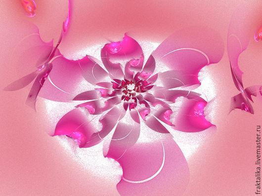 Картина в спальню `Цветение сакуры`. Оттенки: горячий розовый, розовато-лиловый, коралловый