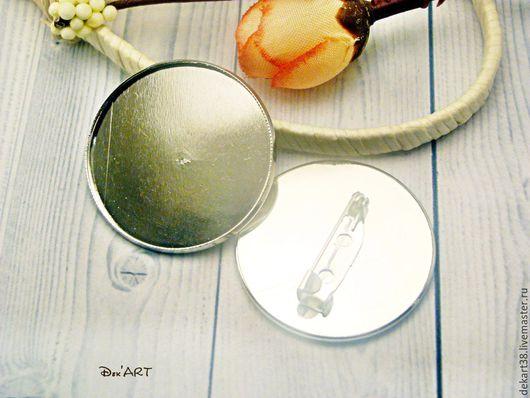 Для украшений ручной работы. Ярмарка Мастеров - ручная работа. Купить Основа для броши 30 мм Арт.ОБР34. Handmade.