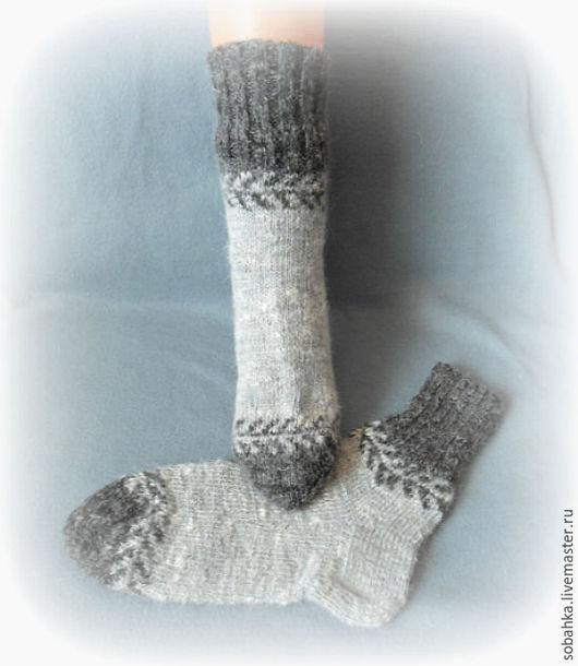 Носки, Чулки ручной работы. Ярмарка Мастеров - ручная работа. Купить НОСКИ с козьим пухом. Handmade. Серый, носочки