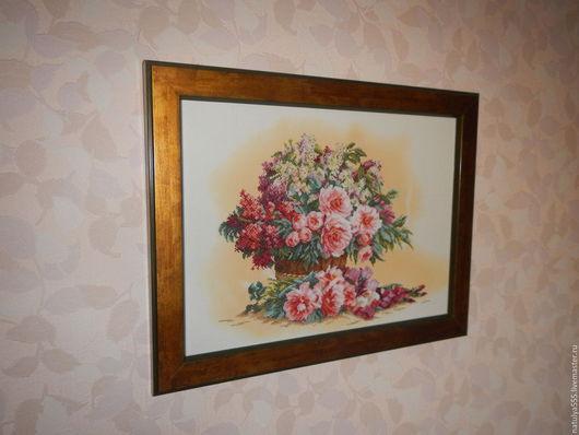 Картины цветов ручной работы. Ярмарка Мастеров - ручная работа. Купить Вышитые крестиком картины. Handmade. Разноцветный, вышивка, крестик