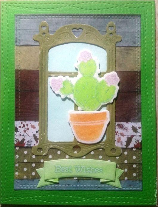"""Открытки на все случаи жизни ручной работы. Ярмарка Мастеров - ручная работа. Купить Открытка """"Я не злющий, я -цветущий!"""". Handmade. Зеленый"""