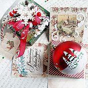 Подарки к праздникам ручной работы. Ярмарка Мастеров - ручная работа Новогодняя коробочка - мэджик бокс. Handmade.