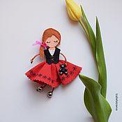 Куклы и игрушки ручной работы. Ярмарка Мастеров - ручная работа Брошка куколка Мэри. Handmade.