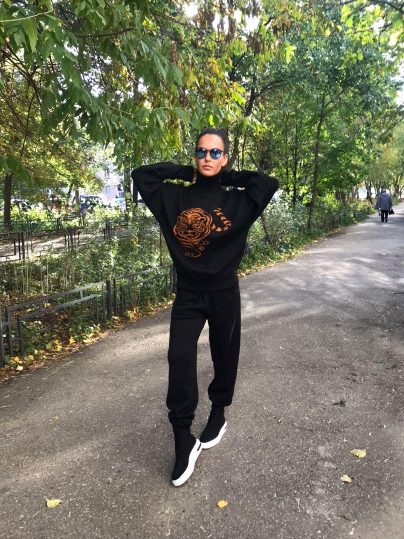 Костюм Тигр осень-зима, принт тигр. Брюки, Свитер, Костюмы, Нижний Новгород,  Фото №1