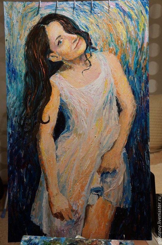 Люди, ручной работы. Ярмарка Мастеров - ручная работа. Купить портрет. Handmade. Мастихин, портрет, портрет на заказ, девушка, масло