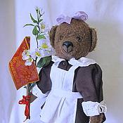 """Куклы и игрушки ручной работы. Ярмарка Мастеров - ручная работа Мишка-тедди """"Машка-первоклашка"""". Handmade."""