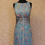 Одежда ручной работы. Ярмарка Мастеров - ручная работа Платье голубого цвета Афина. Handmade.