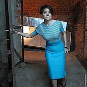 Вязаное авторское платье Прованс