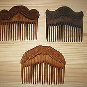 Гребни ручной работы. Ярмарка Мастеров - ручная работа Гребешки деревянные для бороды и усов.. Handmade.