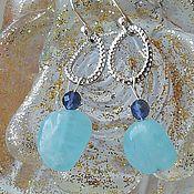 Украшения handmade. Livemaster - original item Silver earrings with natural aquamarine