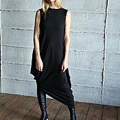 Одежда ручной работы. Ярмарка Мастеров - ручная работа Платье ASYMMETRIC NEW BLACK. Handmade.
