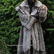 Одежда handmade. Livemaster - original item ROYAL silver FOX fur COAT FROM SAGA FURS HEM 290cmXXL. Handmade.