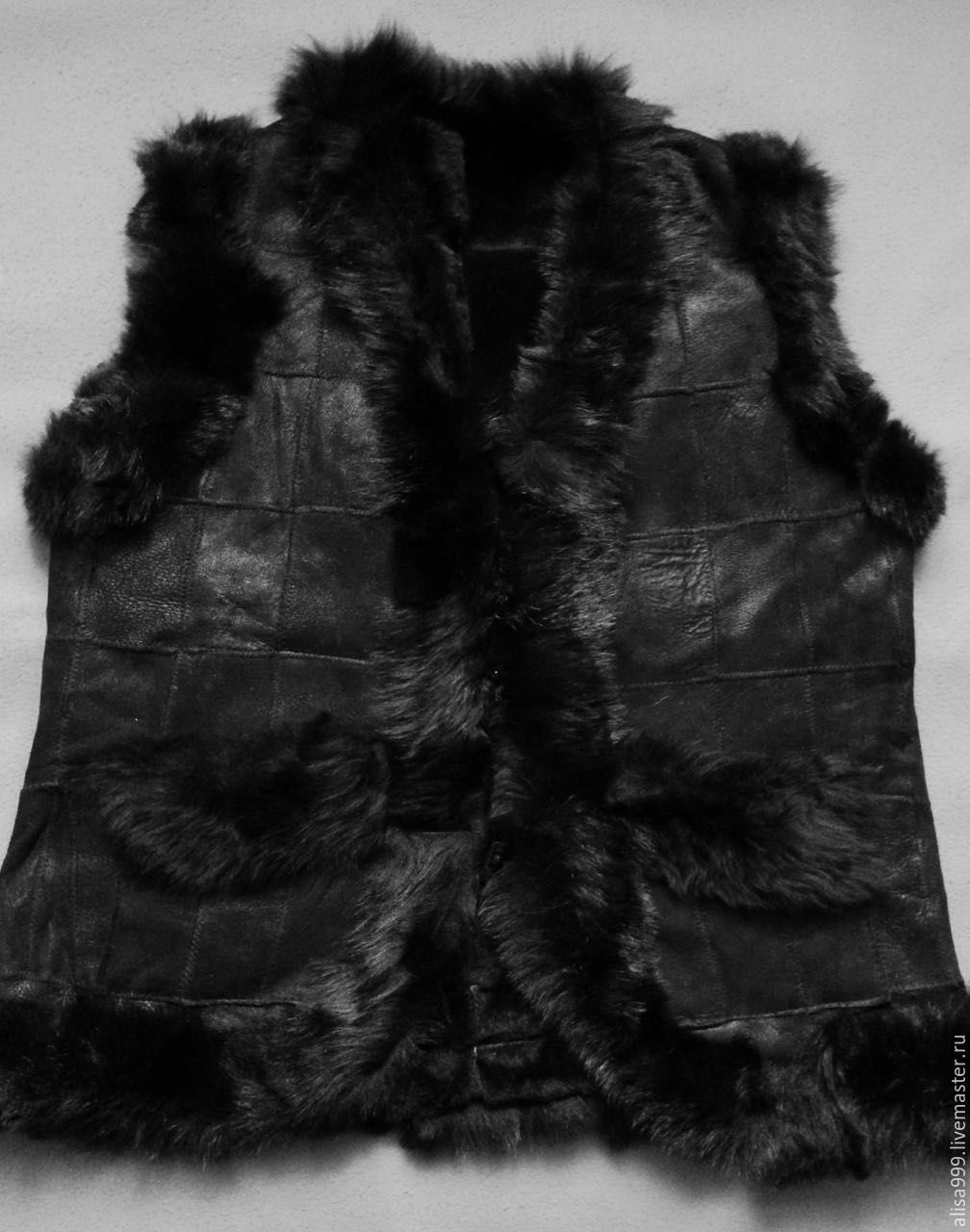 Delicate leather vest made of sheepskin, Vests, Moscow,  Фото №1