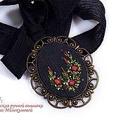 Украшения handmade. Livemaster - original item Pendant: Embroidered pendant Frasquita. Handmade.