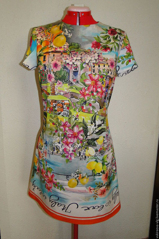 Платья ручной работы. Ярмарка Мастеров - ручная работа. Купить Dolce Gabbana платье. Handmade. Комбинированный, индивидуальный пошив, хлопок