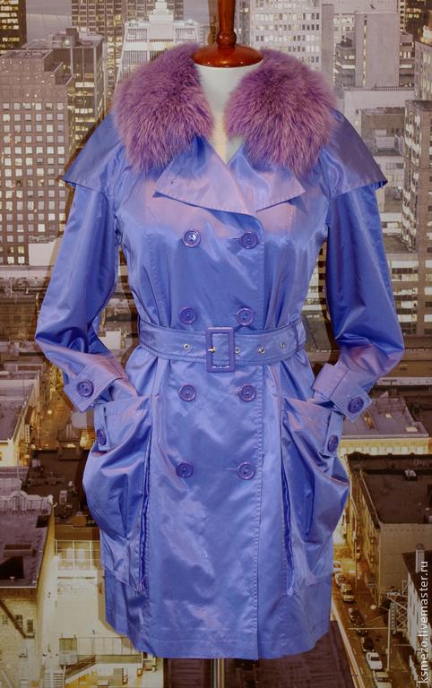 """Верхняя одежда ручной работы. Ярмарка Мастеров - ручная работа. Купить Скидка 30% Плащ весенний """"Аметист"""". Лёгкий на подкладке, с поясом.. Handmade."""