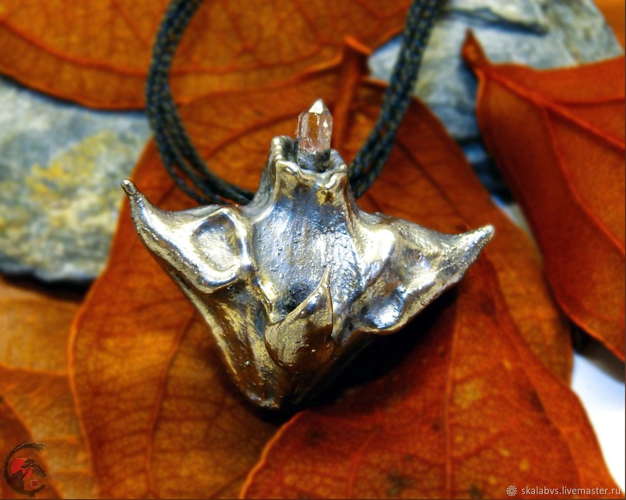 Water Chestnut pendant made of Water Walnut in silver!, Pendants, Chelyabinsk,  Фото №1