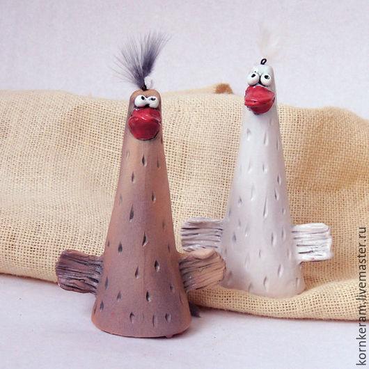 Колокольчики ручной работы. Ярмарка Мастеров - ручная работа. Купить Два веселых гуся, колокольчики. Handmade. Серый, гуси, звон
