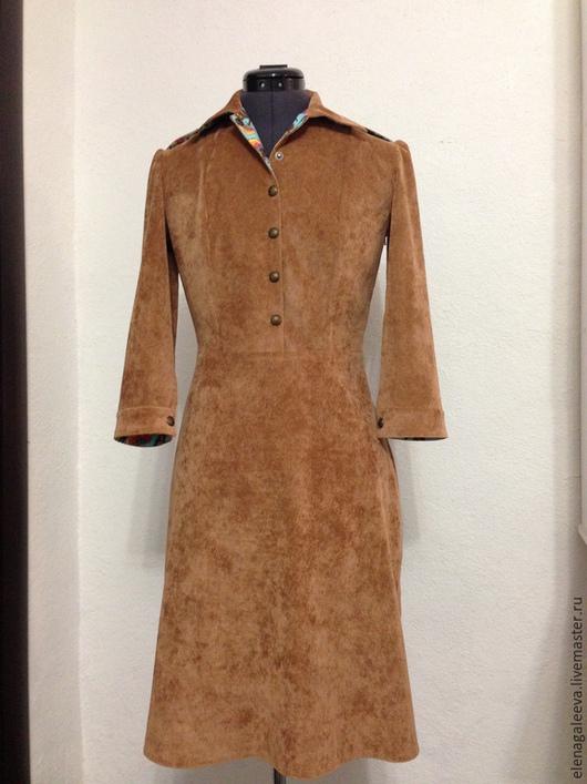 """Платья ручной работы. Ярмарка Мастеров - ручная работа. Купить Платье """"Кэмел"""". Handmade. Коричневый, осеннее платье, юбка миди"""