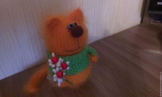 Игрушки животные, ручной работы. Ярмарка Мастеров - ручная работа. Купить Рыжий влюблённый (вязаный котик). Handmade. Рыжий