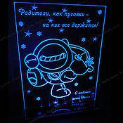 Открытки ручной работы. Ярмарка Мастеров - ручная работа Родители как пуговки - светящаяся открытка для родителей. Handmade.