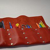 Пеналы ручной работы. Ярмарка Мастеров - ручная работа Пенал из натуральной кожи. Handmade.