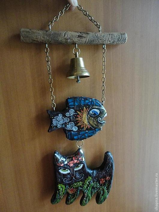 """Фантазийные сюжеты ручной работы. Ярмарка Мастеров - ручная работа. Купить Подвеска """"Чудо-рыбо-кот"""". Handmade. Подвеска, рыба"""