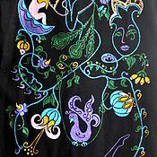 Одежда handmade. Livemaster - original item Painting coat to order. Handmade.