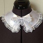 Аксессуары handmade. Livemaster - original item Universal satin collar / satin, white. Handmade.