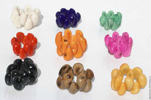Браслеты ручной работы. Ярмарка Мастеров - ручная работа. Купить Браслеты из ореха эквадорской пальмы тагуа, разные цвета. Handmade.