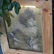 Для дома и интерьера ручной работы. Ярмарка Мастеров - ручная работа Зеркальное панно в раме Соблазнительница. Handmade.