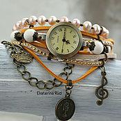Украшения handmade. Livemaster - original item Women`s watch with pearls