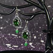 Украшения handmade. Livemaster - original item Earrings with peridot and jade